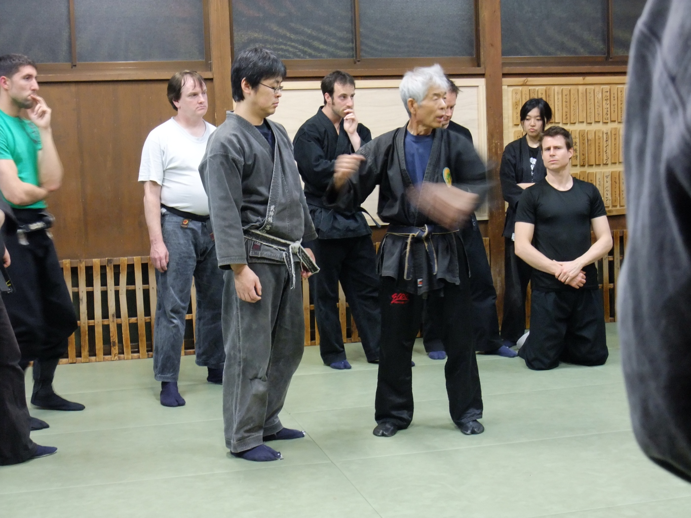 Oguri sensei with Tomiyama san