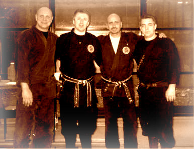Memories: picture taken during one of the first Shi Tennô seminar organized by Steve Byrne in 2001 in Trinity College in Dublin.